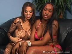 Big Titty Black Lesbians Licking Out Pussy Thumb