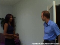 Tight wet black pussy in an interracial sex video Thumb