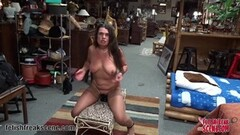 Milf stretches her moist pussy Thumb