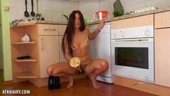 Horny Dalila fucks her kitchen Thumb