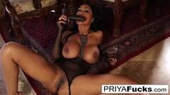 Sexy Priya Rai rides a Sybian to a giant climax Thumb