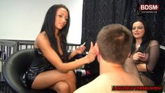 horny german domina milf and teen first lession Thumb