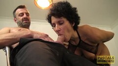 Horny English wench blasted with cock and cum Thumb