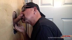Hot Man Cums To Feed At The Gloryhole Thumb