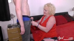 Horny Blonde Mature an Youngster Hardcore Fuck Thumb
