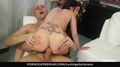 Cute Cowgirl riding in anal audition Thumb