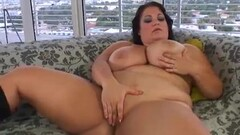 Naughty BBW Brandy Ryder Plays With Her Pussy Thumb