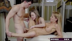 Busty MILF Gets Hot Mother's Day Threesome Thumb