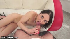 Sexy French Babe Fucked on the Table POV Thumb