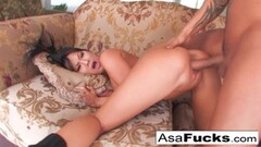 Sexy asian Asa having some great sex with her boy toy Keni Thumb